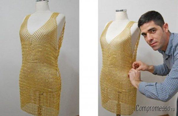 Фото в платье из золота